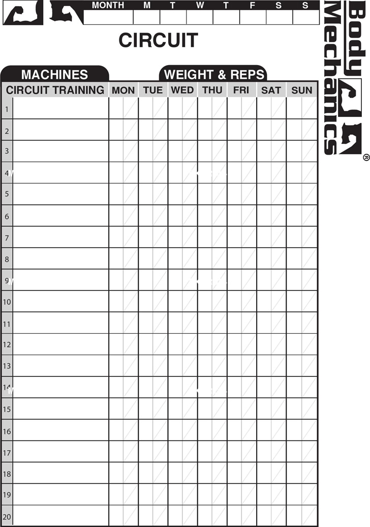 work-out-charts-template