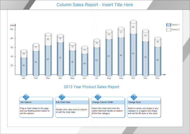 column-sales-report