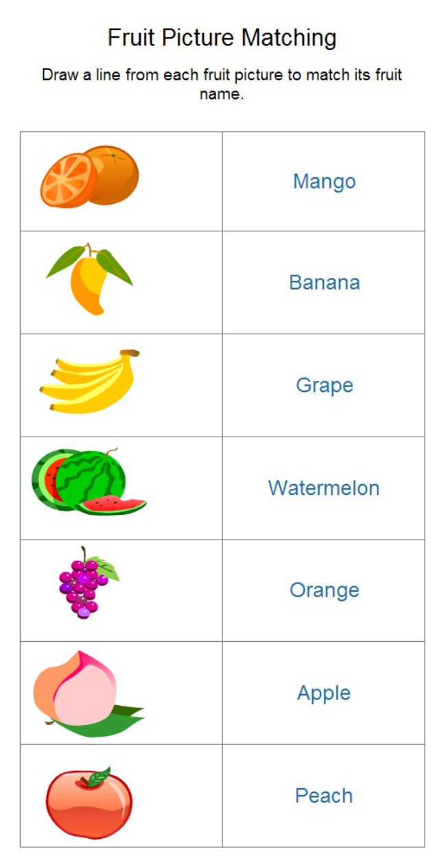 fruit-worksheet