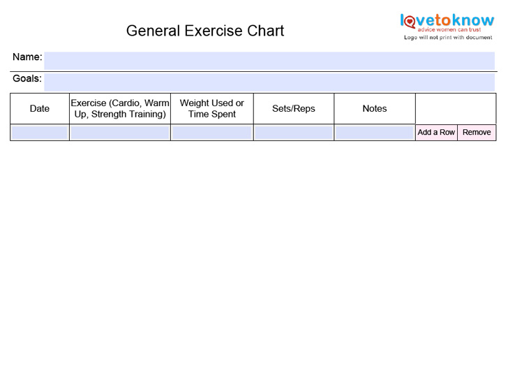 general-exercise-chart