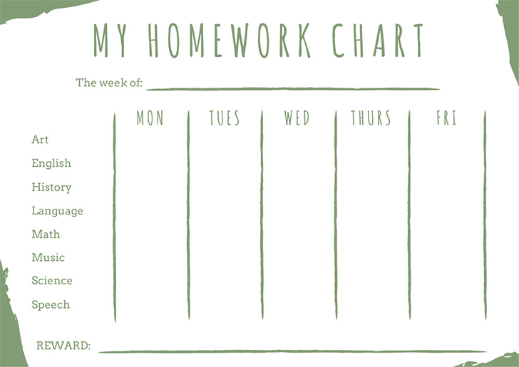 green-homework-reward-chart