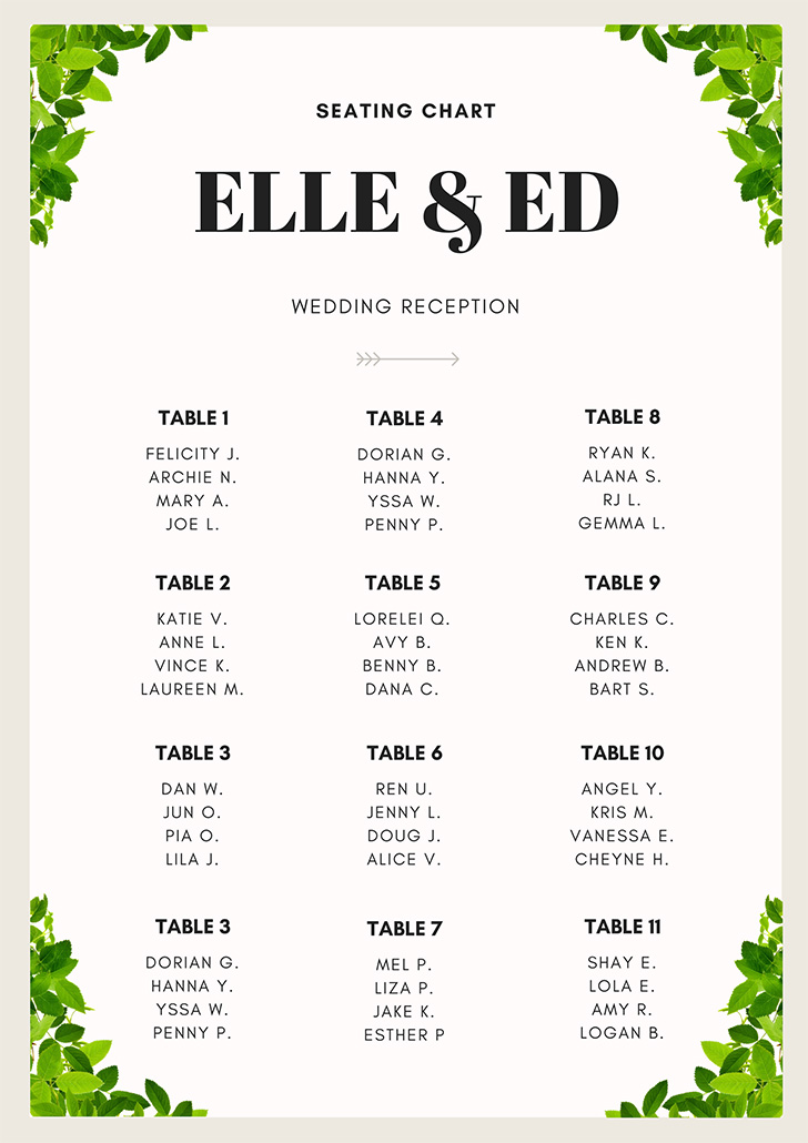 linen-leaves-wedding-seating-chart