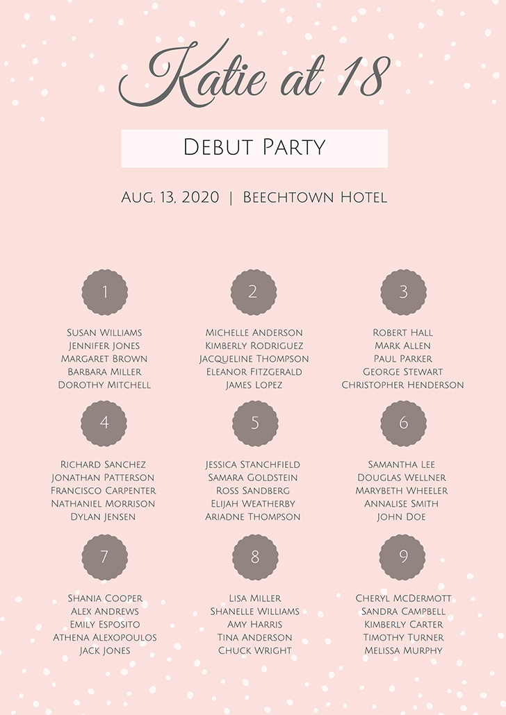pink-elegant-debut-seating-chart