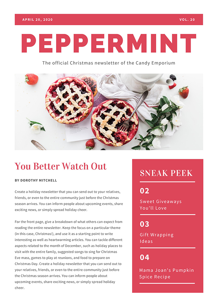 red-simple-christmas-newsletter