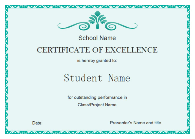 student-excellent-certificate