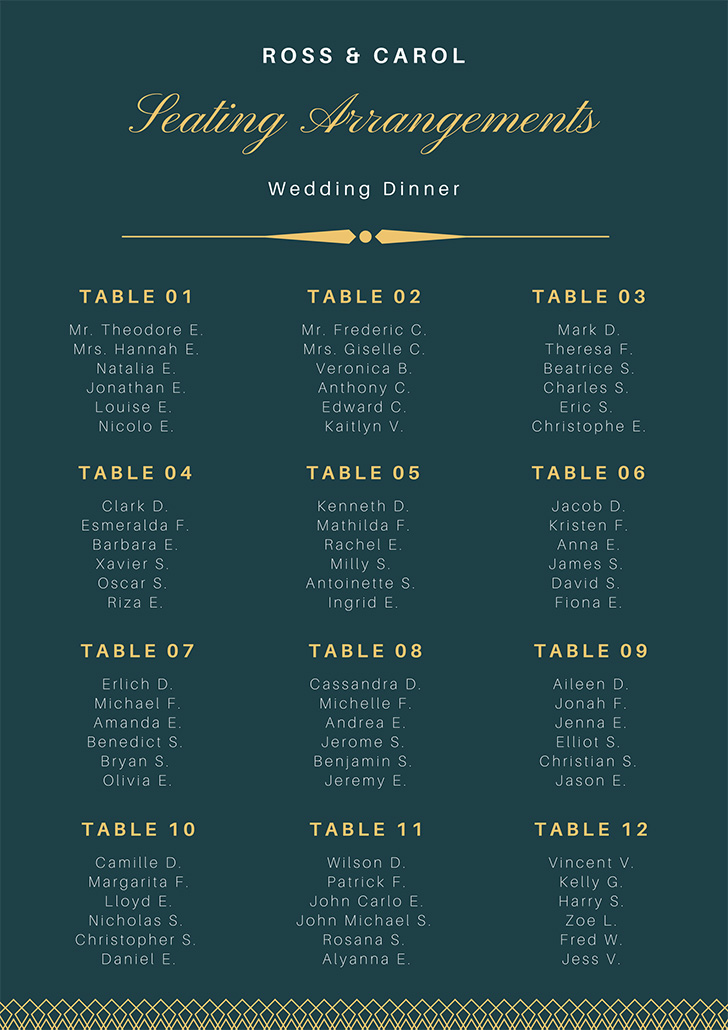 teal-and-gold-elegant-wedding-seating-chart