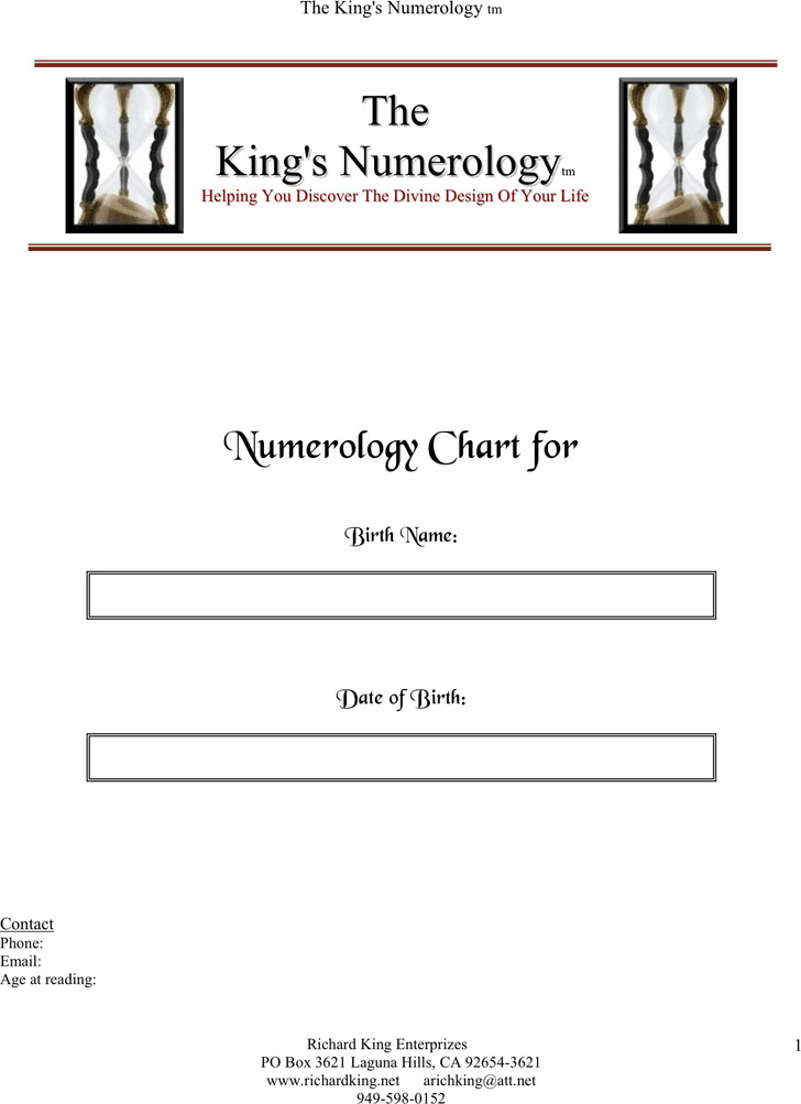 the-kings-numerology-chart