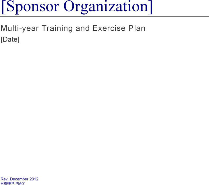training-and-exercise-plan-template