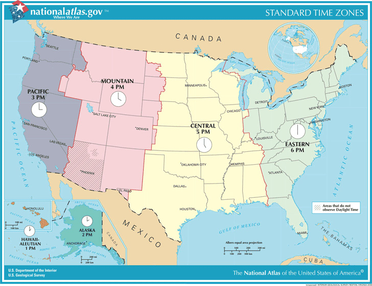 us-standard-time-zones